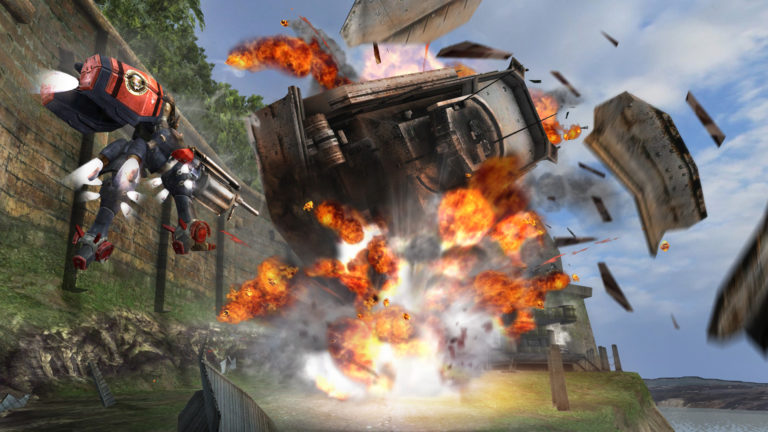 metal wolf chaos XD explosion