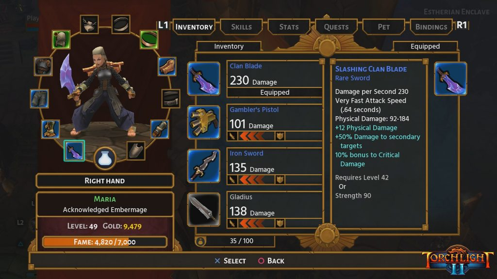 Torchlight II review equip