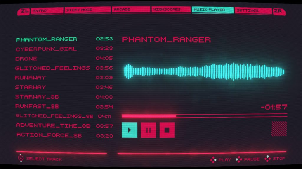 Cyber Protocol music player