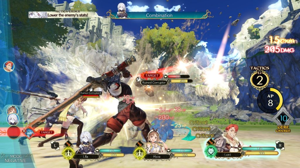 Atelier Ryza battle system