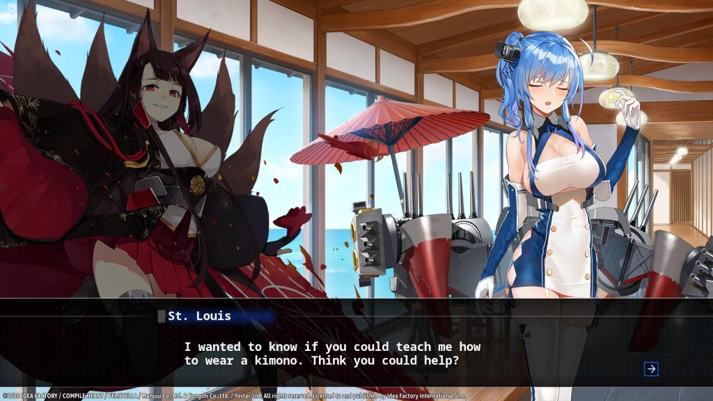 Azure lane visual novel