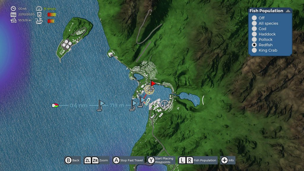 Fishing Barents Sea map