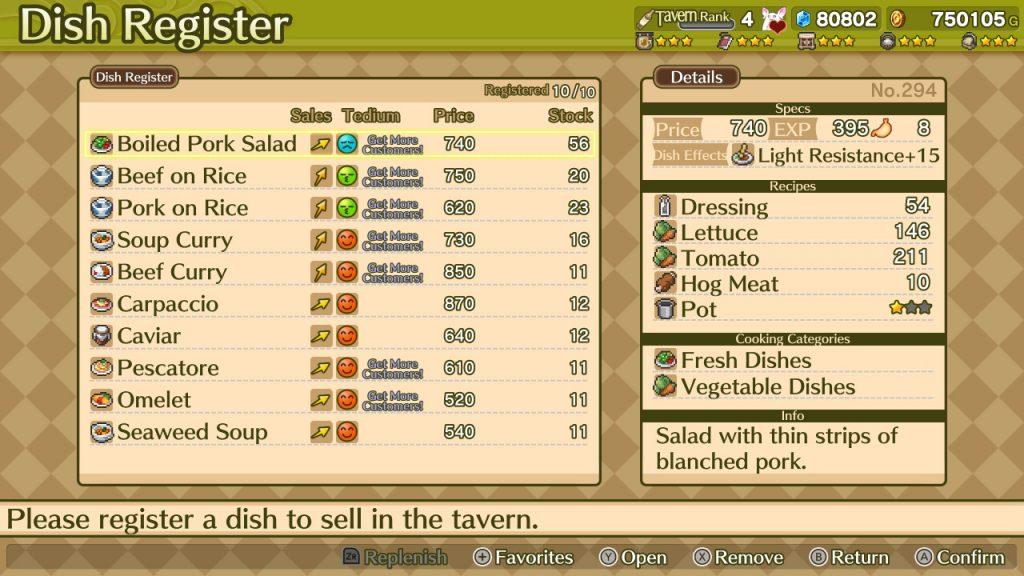 Marenian Tavern Story cooking