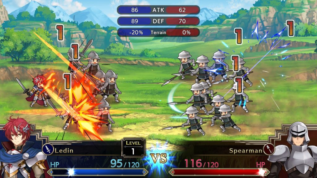 Langrisser 1 & 2 fight