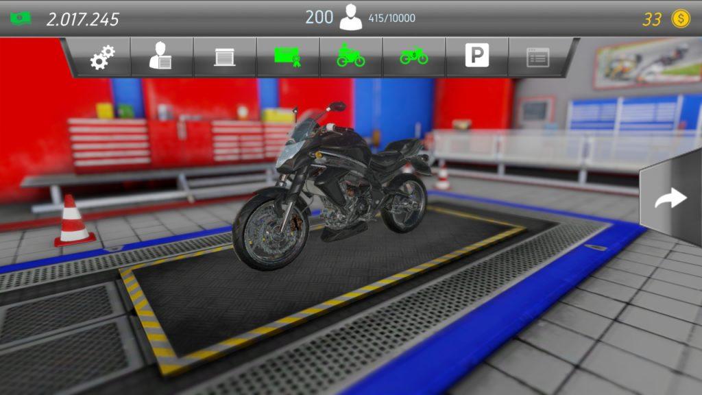 Motorcycle Mechanic Simulator black bike