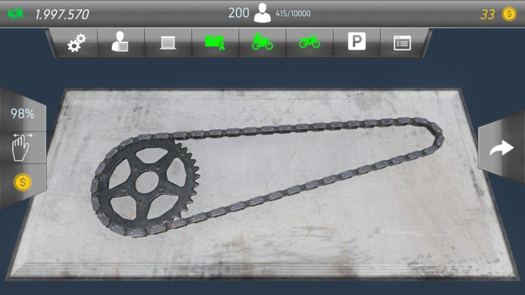 Motorcycle Mechanic Simulator chain