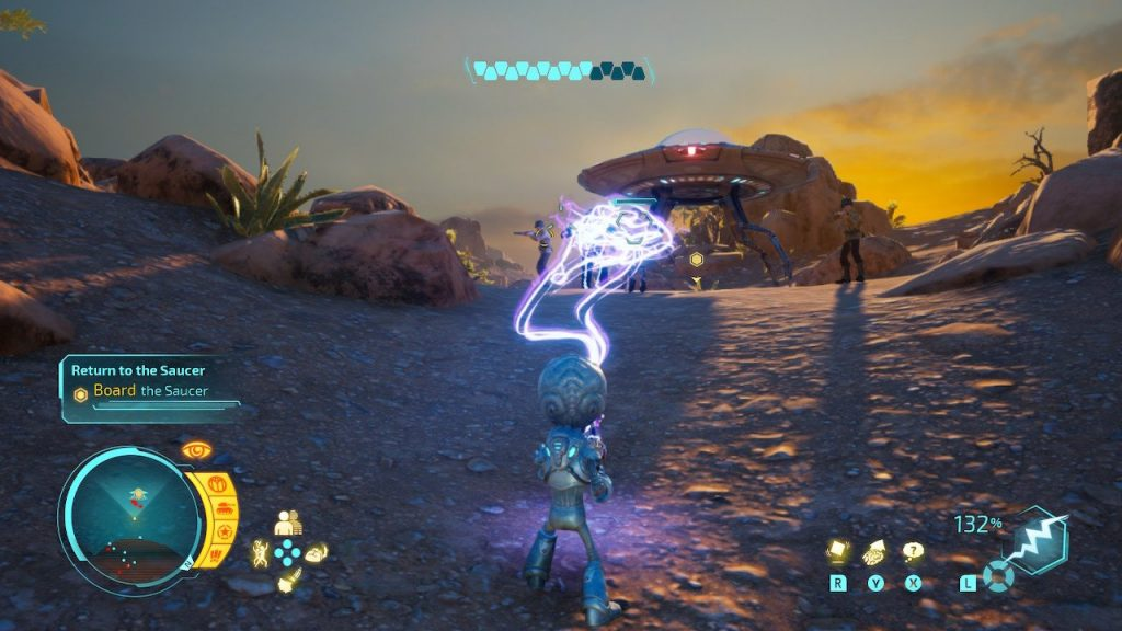 Destroy All Humans! gameplay
