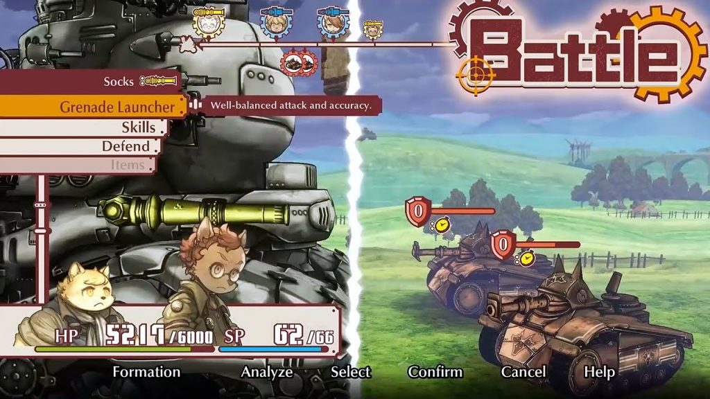 Fuga Melodies of Steel battle